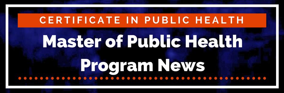 Master of Public Health program news