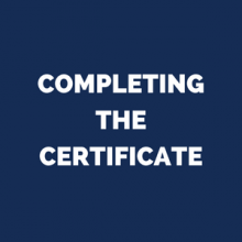 completing the certificate