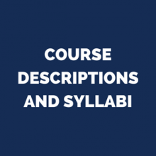 course descriptions and syllabi